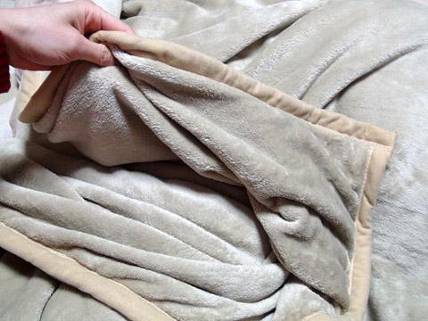 maxshareの「マイクロファイバー毛布 2枚合わせ ダブルサイズ」 掴んでみた
