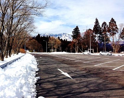 日光残雪2014
