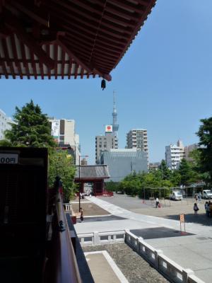 浅草寺からスカイツリー 7・4