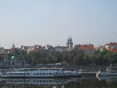 バスからのプラハ城 7・27