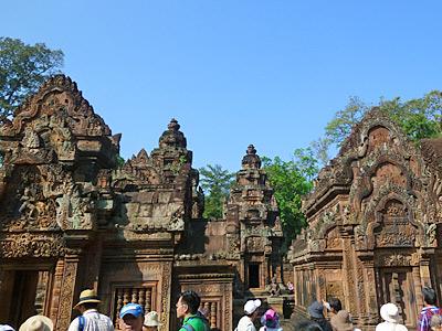 第三周壁と中央祠堂、経蔵