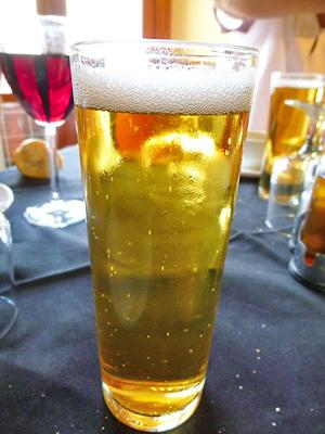 ミハスのレストランで飲んだビール