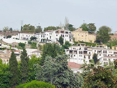 グラナダの高台の住宅