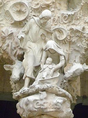 聖家族の彫刻