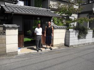 田淵先輩の家前