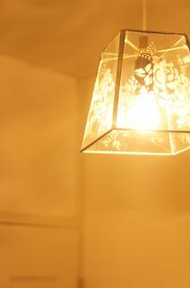 素敵なガラスのランプシェード