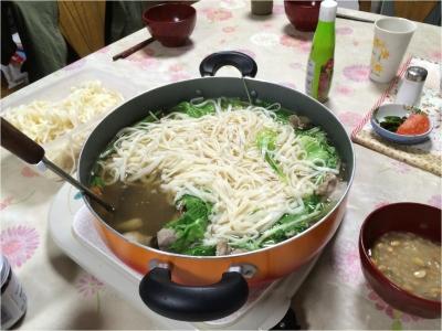 台風とうどん鍋261013_01