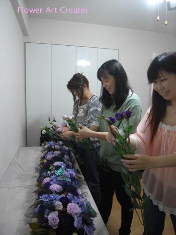 ウェディング装花 実習