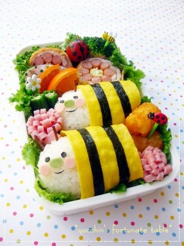 *簡単ミツバチ弁当*