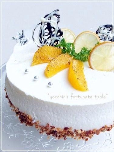 *はちみつレモンムースケーキ*