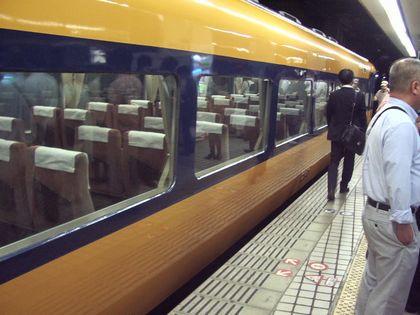 往きの近鉄特急1