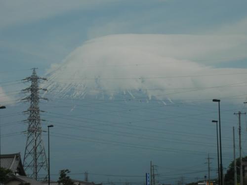 金環日食の朝の富士山2