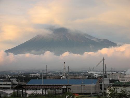 雨上がりの富士山