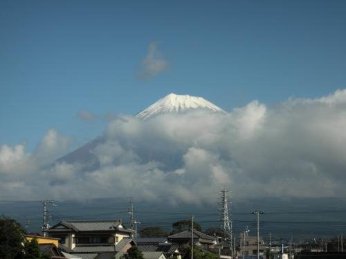 富士山再冠雪