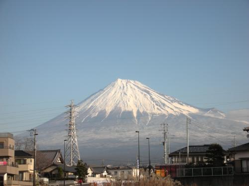 真っ白富士山
