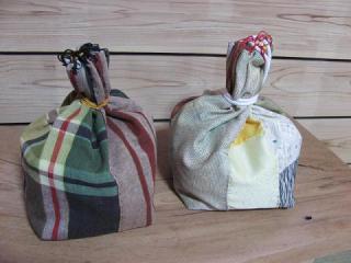 絹布使用仏供米袋_3689