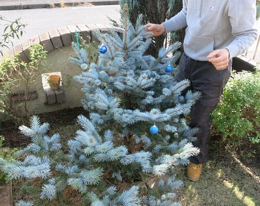 12-12ツリー飾りつけパパ①