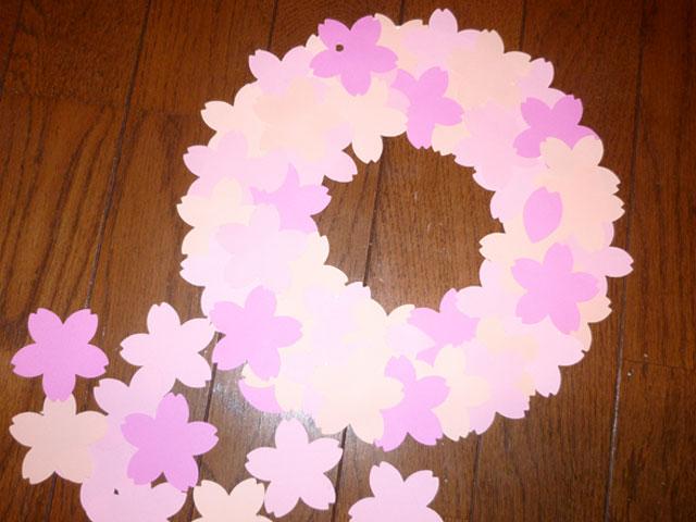 すべての折り紙 折り紙 花びら : 花を大きく作って、「 お め で ...
