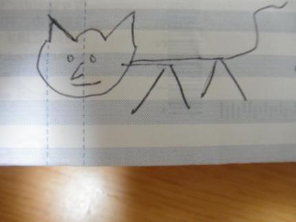 クリスチャンの描いた猫