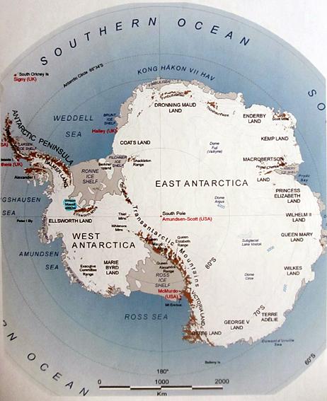 南極大陸map