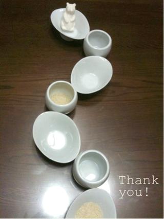 201209大谷さんから白いお皿やすえから白い熊とお米