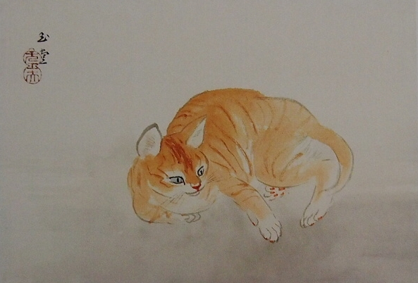 河合玉堂 猫