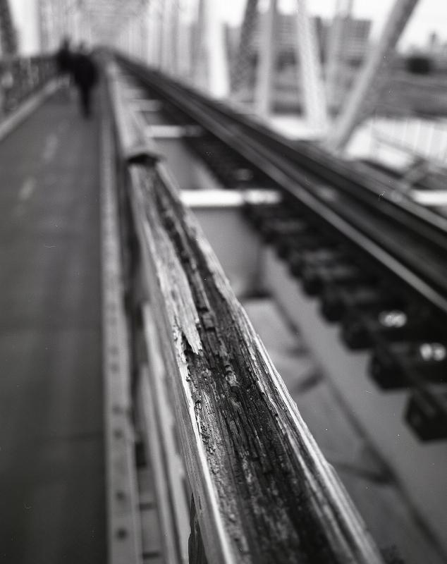 赤川仮橋Ⅱ モノクロ