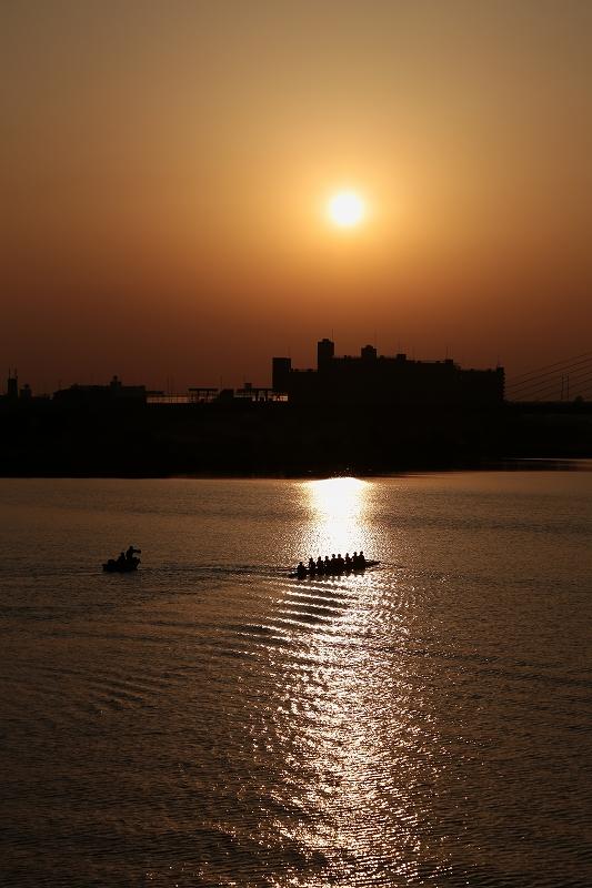 淀川 日の出