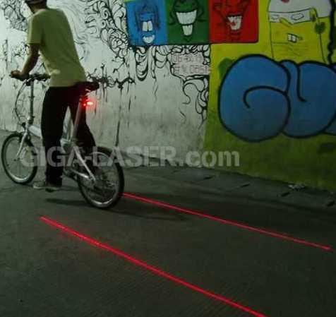 自転車用レーザーテールライト