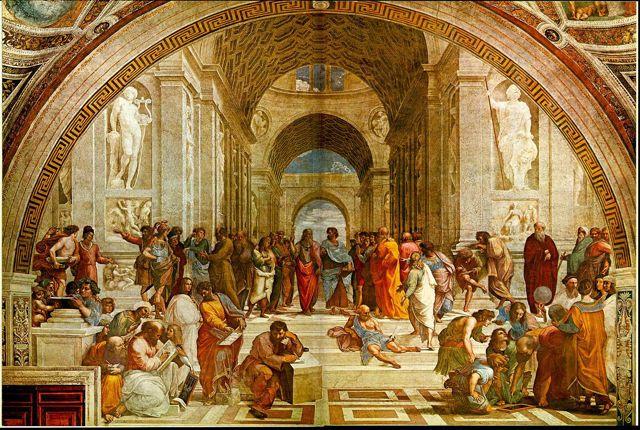 アテネの学堂修復前