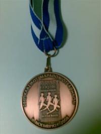 マラソン参加メダル