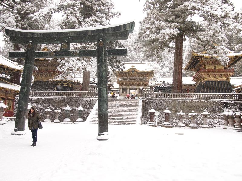 雪の東照宮