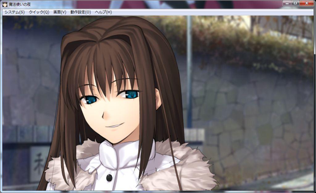 微笑む青子さん