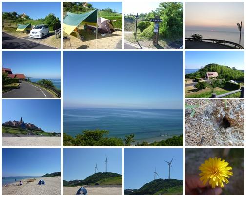 キャンプ場と海水浴場