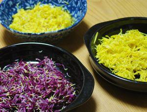 食用菊3皿