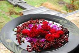 別荘 玄関花