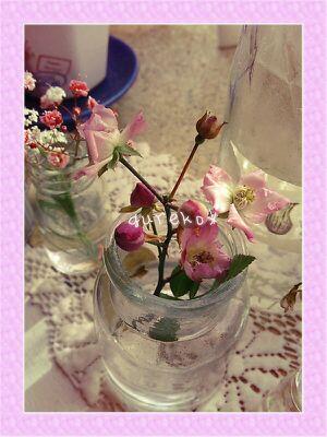ミニピンクバラ