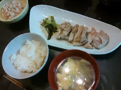 鶏蒸し定食