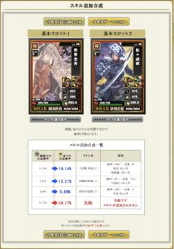 カード合成 - スキル追加合成 - 戦国IXA