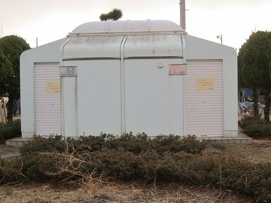 八戸館鼻岸壁朝市 水洗トイレ