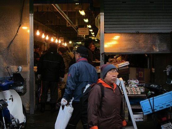 陸奥湊駅前朝市 2012 12月30日