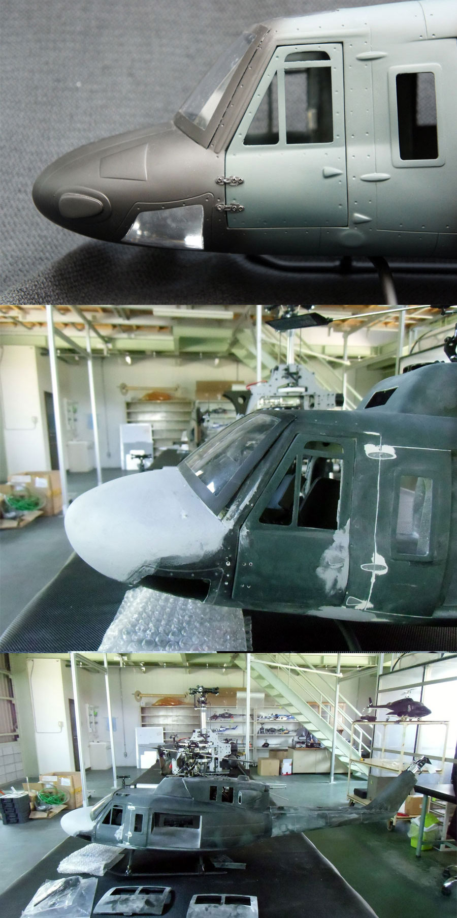UH-1Nノーズ加工