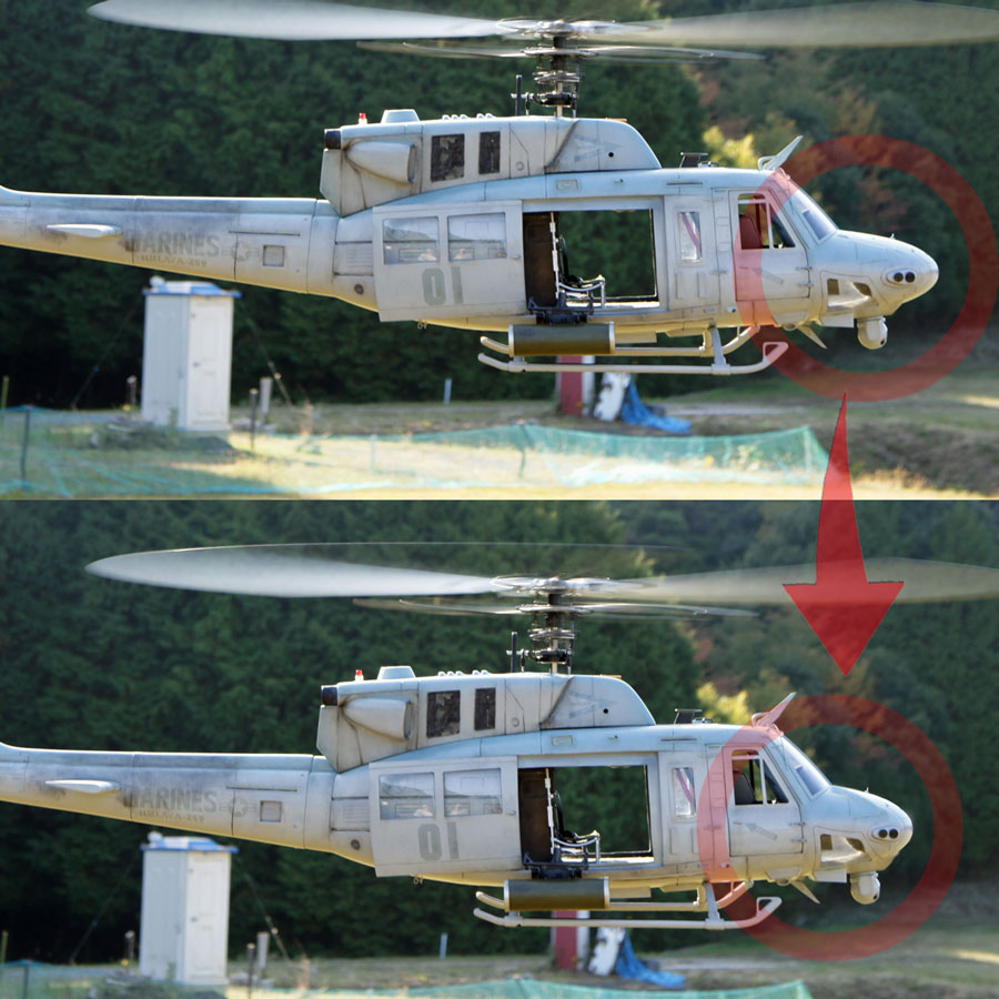 UH-1Nノーズ形状変更画像