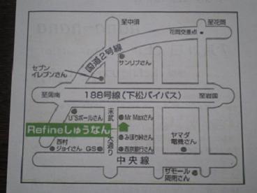 フライヤー地図