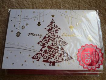 """""""126円クリスマスカード""""を購入2012-9"""