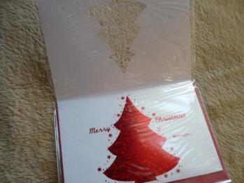 """""""126円クリスマスカード""""を購入2012-8"""