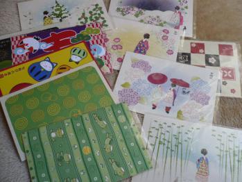 ポストカード購入(和風、猫、お花)201211-2