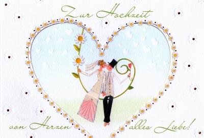 ドイツのGから結婚祝いのカード