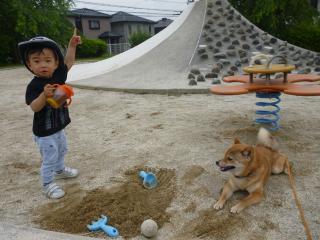 砂あそびの勝ち