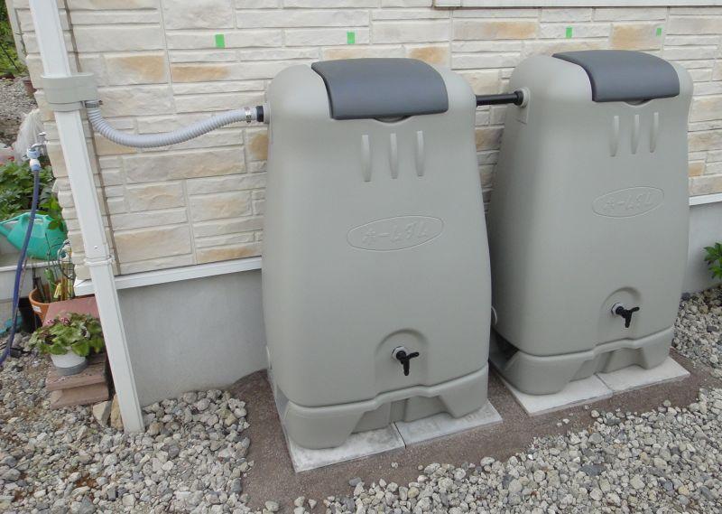 Go Back Home 雨水タンクの仮設置
